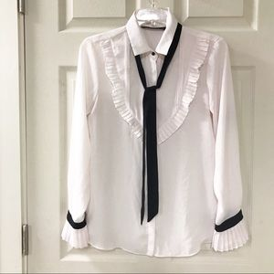 Zara Basic Pale Pink Blouse